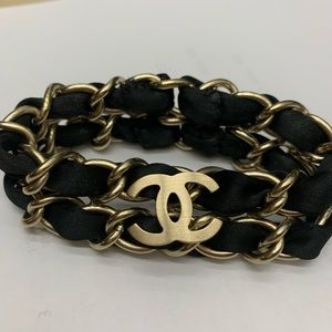 Chanel Silk Chain Link Bracelet